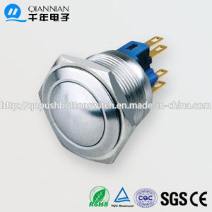 Qn22-B2 22mm Momentary Domed Head Pin Terminal Metal Push Button Switch pictures & photos