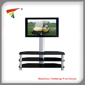 Black Glass TV Stand Plasma TV Mounts Living Room Furniture (TV066) pictures & photos