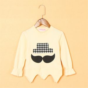 T11510 2015 Autumn Korean Style Soft Kids Girls Pullover Long Sleeve Irregular Hem Shirts Girl Children Shirt for Wholesale pictures & photos