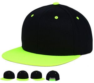 Blank Plain Custom Embroidery Two Tone Basketball Snapback Cap pictures & photos