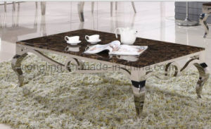 Luxury Modern Metal Restaurant Oak Table for Sale pictures & photos