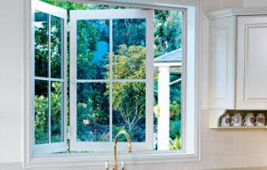 Fluent Drainages Kitchen Double Glass Aluminium Windows pictures & photos