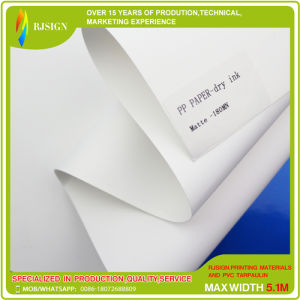 Dye Ink 0.14mm Glossy High Stiff PP Paper (RJPPW001) pictures & photos