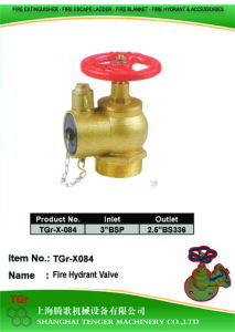 "Pressure Reduce Angle Hydrant Valve: 3""Bsp=2-1/2""BS336 pictures & photos"