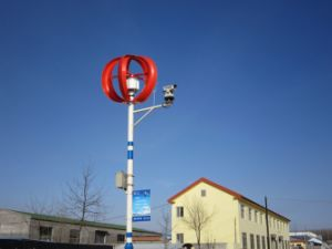 100W Small Vertical Axis Wind Turbine for Street Lamp (SHJ-NEV100R) pictures & photos