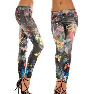Sexy Women Slim Printed Jeggings (15005) pictures & photos