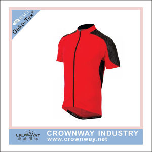 Mens Custom Bicycle Red Cycling Jersey with High Quality pictures & photos