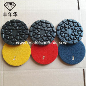 """Cr-28 Fnh 4 Step Sun Polishing Pad for Stone Concrete Renovation (4""""/100X6.0mm) pictures & photos"""