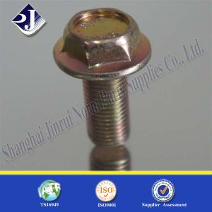 Flange Bolt with Zinc Yellow pictures & photos