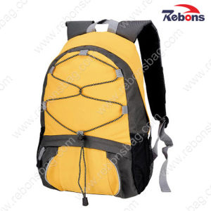 Yellow Custom Logo 600d Polyester Travel Bag Sports Backpacks pictures & photos