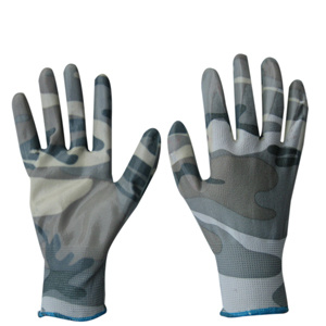 Camouflage Color PU Coated Work Glove pictures & photos