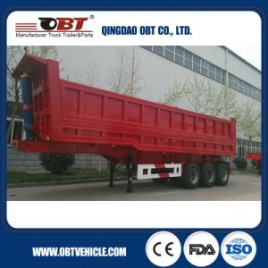 Obt Brand 3-Axles Hydraulic Rear Tipper Semi Trailer pictures & photos