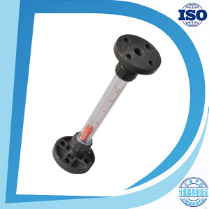 Various Flowrate Flange Type Short Tube Guide Rod Plastic Water Rotameter pictures & photos