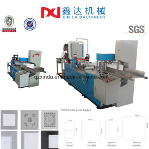 Color Printing Serviette Paper Embossed Folding Tissue Napkin Machines pictures & photos