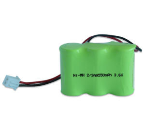 NiMH 3.6V 2/3AA 550mAh Battery for LED Light pictures & photos