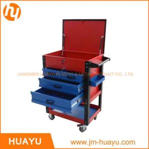 550 Lbs Sheet Metal Red & Blue Heavy Duty Rolling Tool Cabinet with 5 Lock Drawers pictures & photos