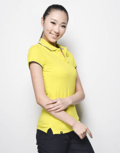 Logo Custom Lady′s Polyester Polo Shirt Dri Fit Polo T-Shirt pictures & photos