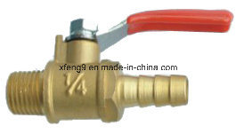 Male Thread Brass Gas Ball Valve with Steel Handle pictures & photos