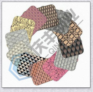 3D Stereoscopic Stamping Color Coated Decoration Stainless Steel Sheet (A101-A032)