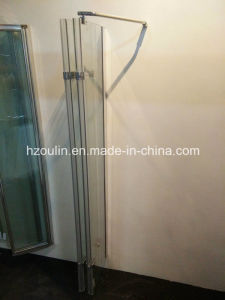 Hinge Bathtub Shower Screen with 4 Folding Glass pictures & photos