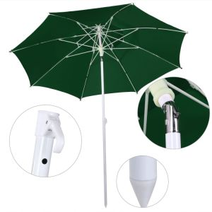 8FT Folding 2 Layers Outdoor Beach Patio Umbrella with Carry Bag pictures & photos