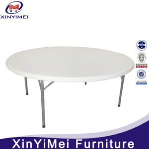 White Outdoor Plastic Folding Round Table for Restaurant pictures & photos
