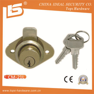 Zinc Furniture & Desk & Cabinet Drawer Lock (CM-21L) pictures & photos