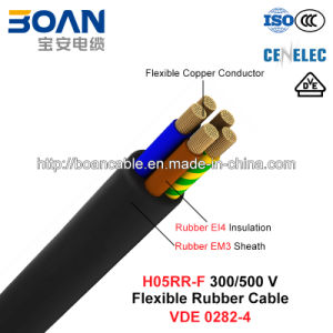 H05rr-F, Rubber Cable, 300/500 V, Flexible Cu/Epr/Cr (BS 7919/VDE 0282-4) pictures & photos