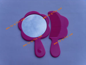 Flower Handle Mirror, Plastic Hair Comb, Set Mirror Comb for Children