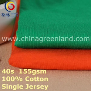Cotton Spandex Single Jersey Fabric for T-Shirt Blouse (GLLML399) pictures & photos