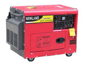 OEM Soundproof Diesel Generator with High Quality 5kw/6kw Silent Diesel Generator pictures & photos