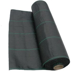 100GSM Heavy Duty Weed Control Woven Fabric Ground Cover Mulch Membrane pictures & photos