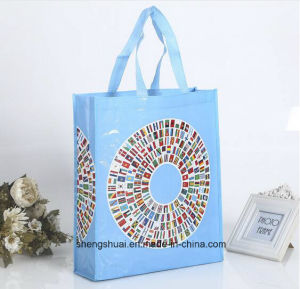 Fashion Design OEM Blue Color PP Woven Shopping Bag