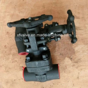800lb 1500lb 2500lb Forged Steel A105 Thread End Globe Valve pictures & photos