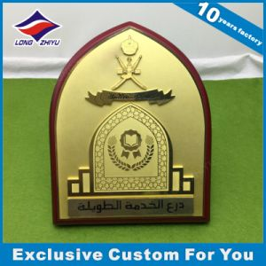 Wholesale Smooth Metal +MDF Wooden Shield Plaque Medal /Trophy pictures & photos