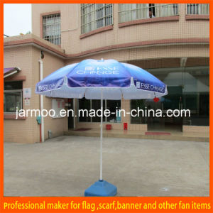 Sun Folding White Blue Beach Umbrella pictures & photos