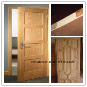 Solid Wood Interior/Entrance Door/ Fire Proof Wood Door With 2 Hours