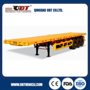 Obt Twist Lock Flatbed Container Trailer pictures & photos