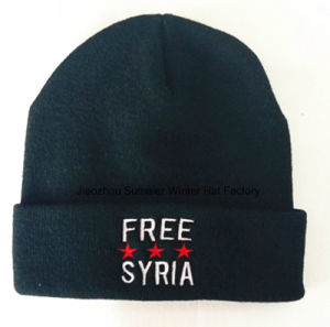 Accept Minimum Order Quantity, Embroidered Knitted Cap Beanie pictures & photos