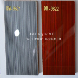 Wooden Demet Acrylic MDF for Kitchen Cabinet Door (DM-9621) pictures & photos