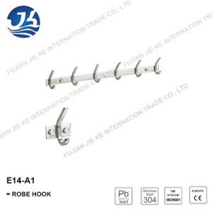 304 Stainless Steel Straight Clothes Robe Hook (E14-A1)