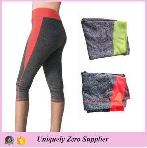2016 Latest Design Polyester Women Body Building Tight Capri Yoga Pant pictures & photos
