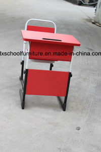 Adjustable Pink School Furniture Student Table and Chair Set pictures & photos