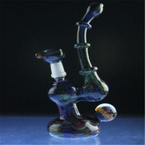 Marbled Fume Color Worked Bubbler Rig for Smoking People (ES-HP-006) pictures & photos