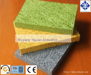 Wood Mineral Wool Acoustic Cement Board in Guangzhou (CPTHICKWOOL25mm) pictures & photos