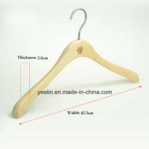 OEM for High Quality Wooden Clothes Hanger (YL-yw14) pictures & photos