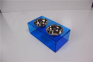 Custom Plastic Acrylic Pet Bowl Pet Feeder Bowl pictures & photos