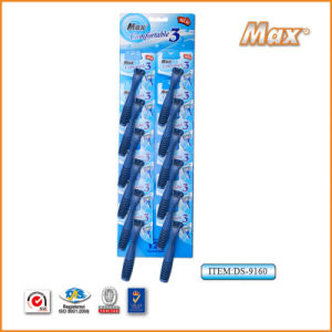 Plastic Platinum Coated Triple Stainless Steel Blade Disposable Razor (DS-9160) pictures & photos