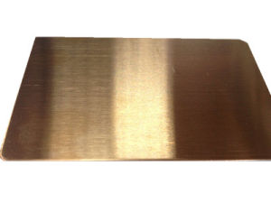 China Supplier Rose Gold Color Hairline Finish Sheet Stainless Steel 304/316 pictures & photos