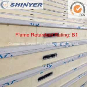 Flame Retardant Rating B1 PIR Sandwich Panel for Cold Room pictures & photos